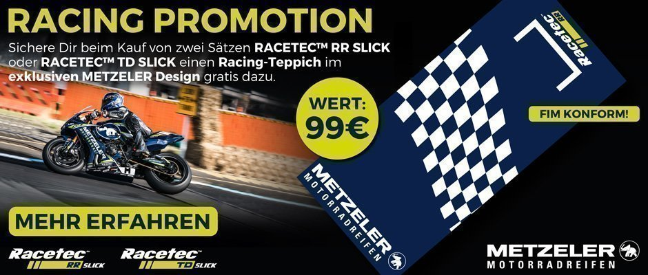 racing motorbike - metzeler promotion